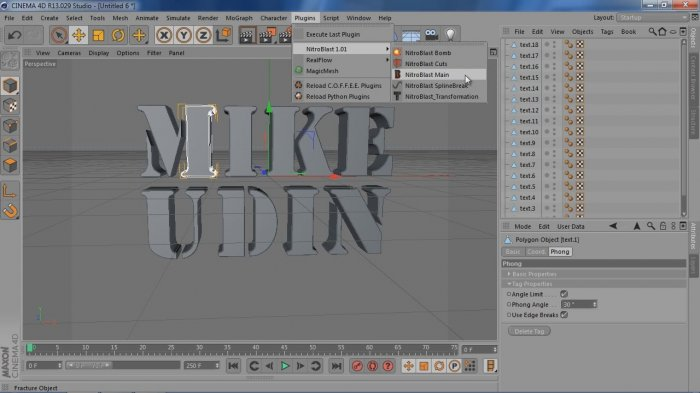 Storm Text in Cinema 4D