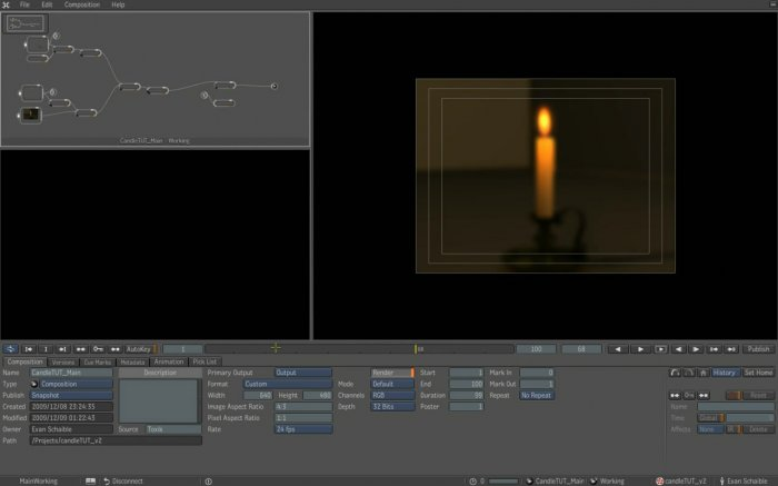 Realistic Candle Scene with 3ds Max and FumeFX