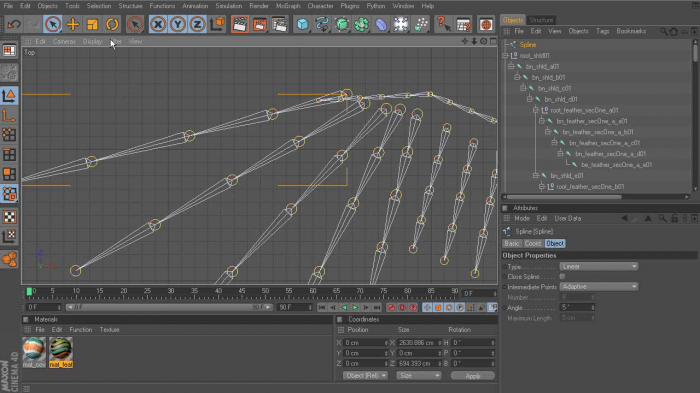 Rigging Wings in CINEMA 4D