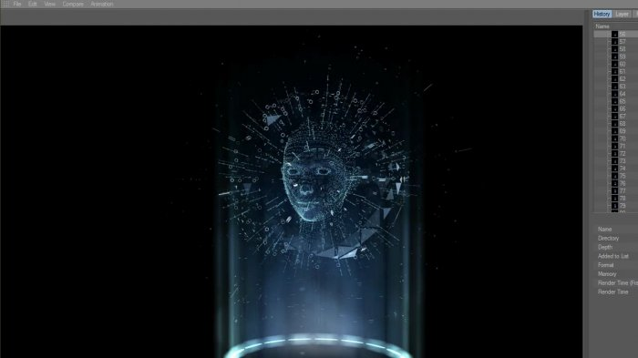Cinema 4D - Tron identity disc hologram