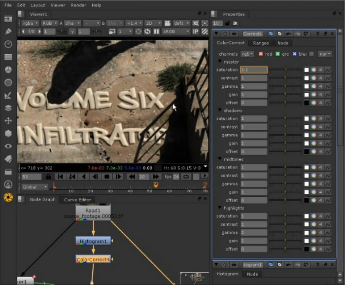 Integrating Titles into Footage in Nuke 6.1