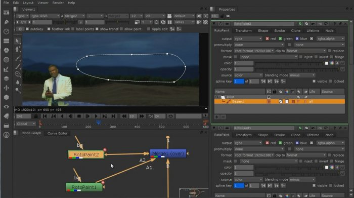 Tracking, Compositing & Color Correction in Nuke by Dave Scandlyn