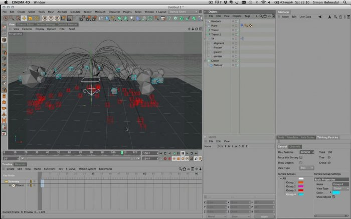 How To Use Thinking Particles & Mograph Together
