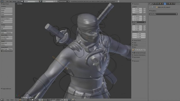 Ninja Character Creation Vol.2 – Rigging