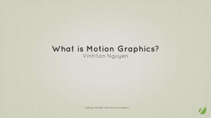 Introduction to Motion Graphics