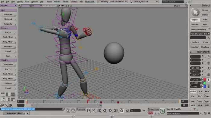 Анимация боя в Softimage