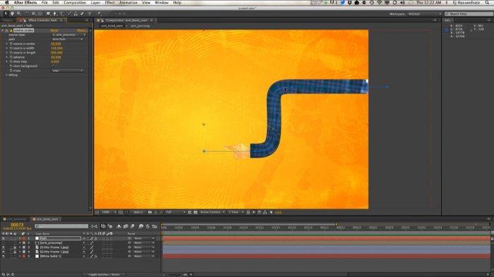 Перемещение слоев вдоль пути в After Effects и Cinema 4D