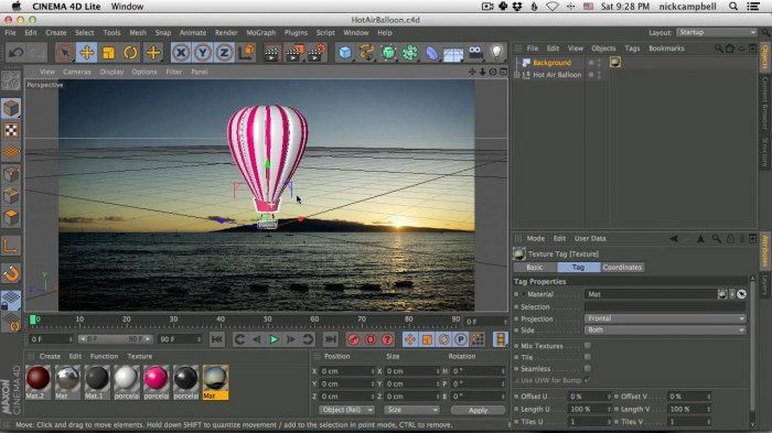 Импорт 3D модели в After Effects с Cineware