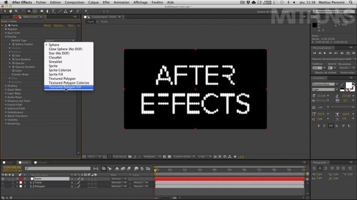 Конфетная типографика - эксперименты с Form в After Effects