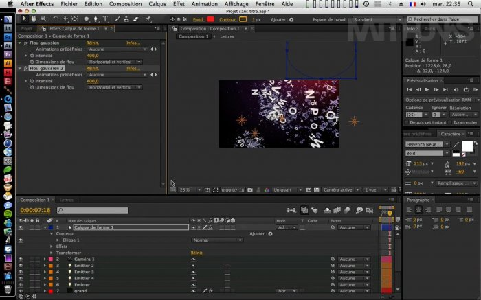 Летающий текст с Trapcode Particular в After Effects