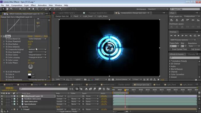 Футуристический логотип в After Effects