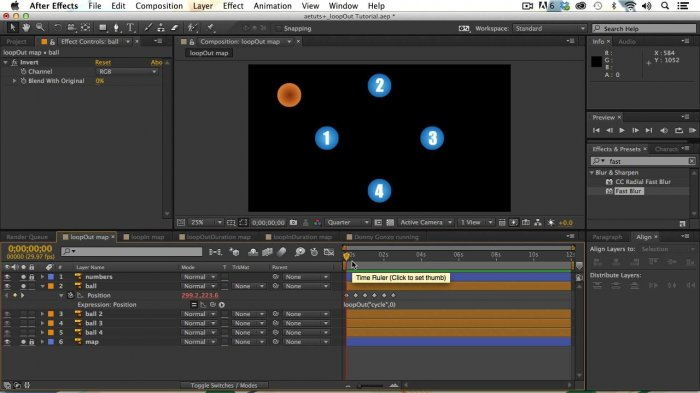 Анимация с помощью выражений loop в After Effects