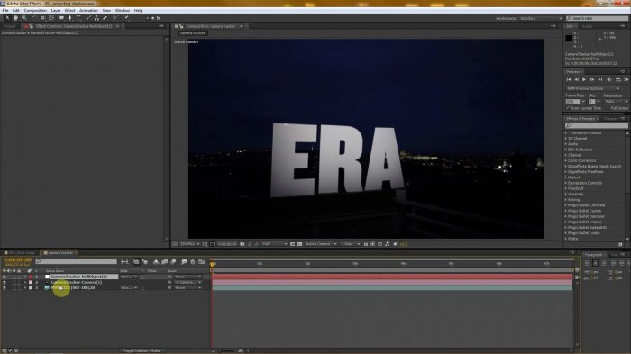Projecting Shadows � After Effects