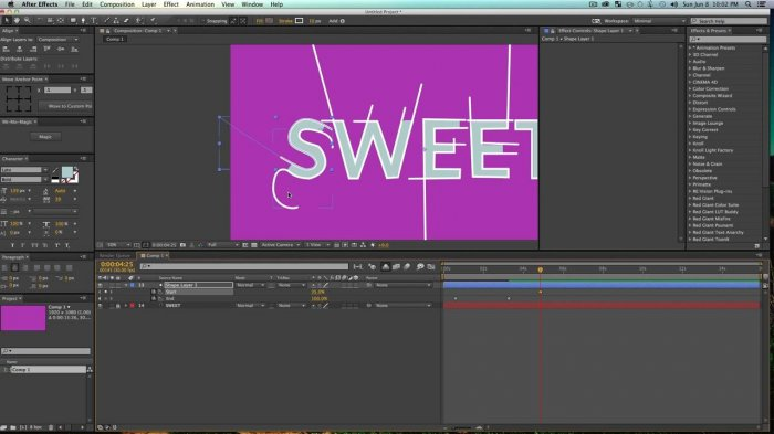 Snappy Line Logo в After Effects