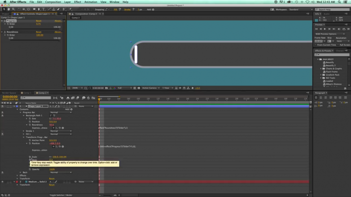 Progress bar в After Effects