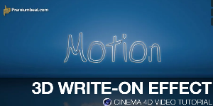 3D Write-On Effect в Cinema 4D