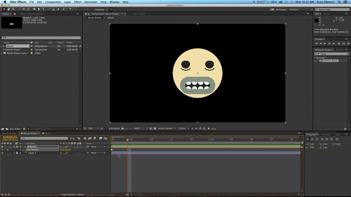 Cartoon Lip Syncing в After Effects