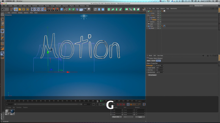 3D Write-On Effect � Cinema 4D