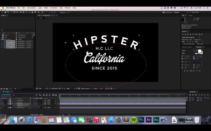 After Effects Tutorial: Hipster Intro Animation