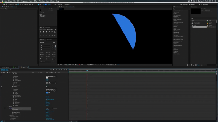 Shape Layer Slices в After Effects