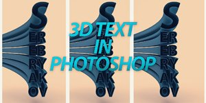 #7 PHOTOSHOP 3D TEXT - TUTORIAL (S E R E B R Y Λ K O V)