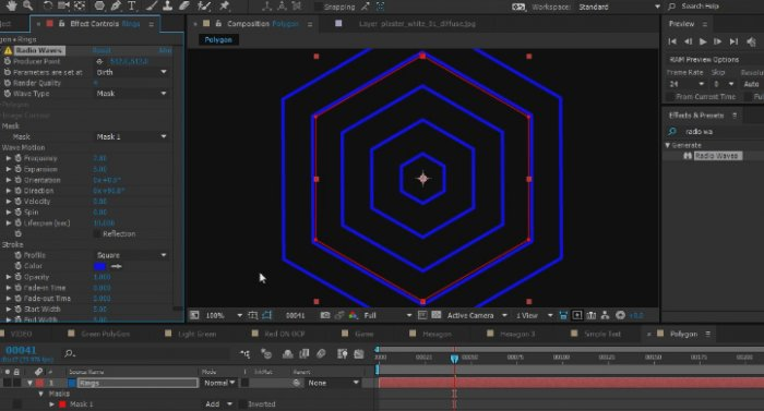 ������ ������� Animated Polygon