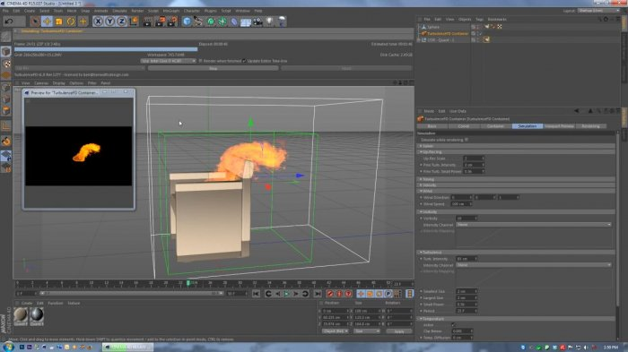 ������� ���� � Cinema 4D & Turbulence FD
