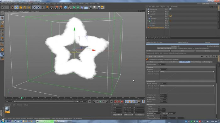 ������ � Turbulence FD � Cinema 4D