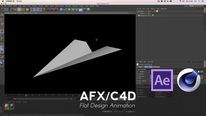 Флэт анимация с Cinema 4D и After Effects