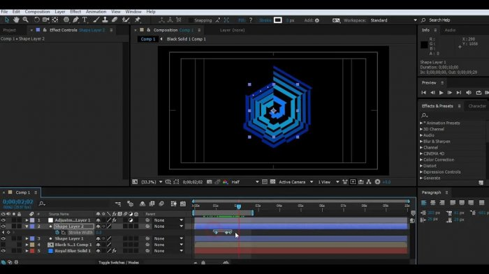 Абстрактная анимация лого в After Effects