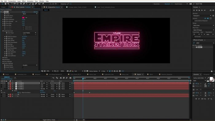 �������������� ����� � �������� SABER � After Effects
