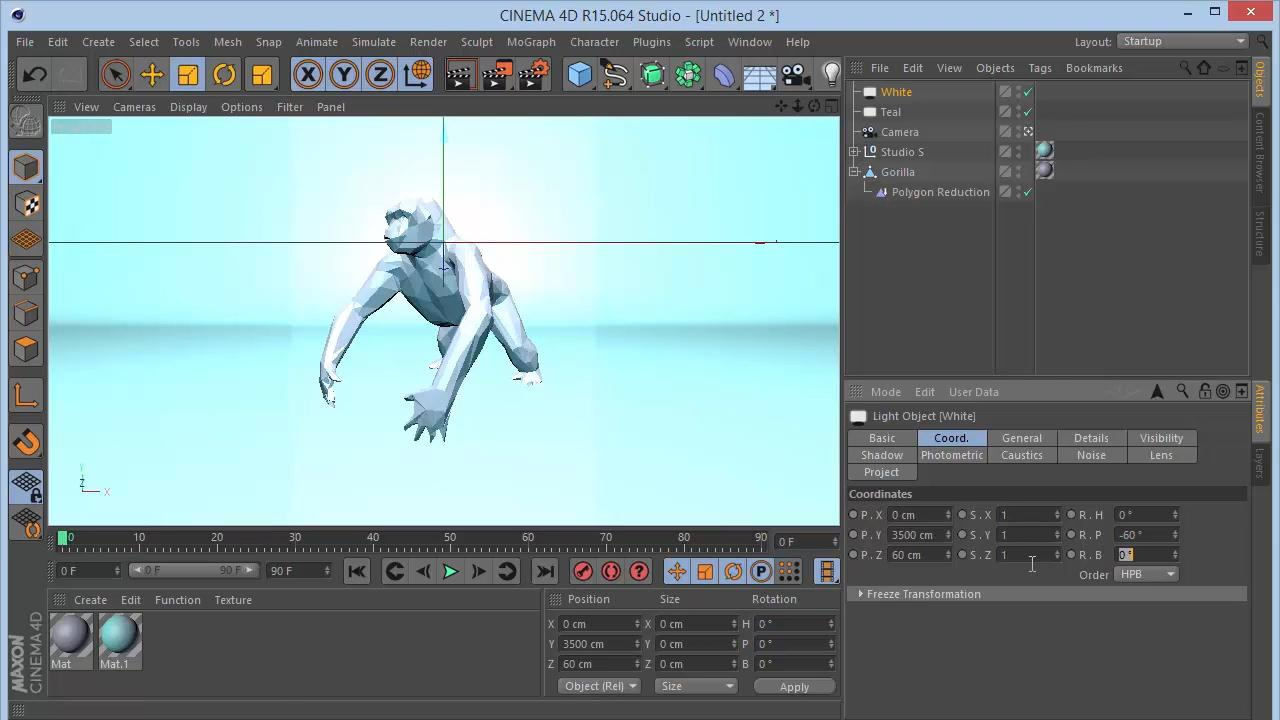 Постер с гориллой в Cinema 4D & Photoshop
