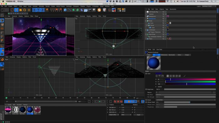 ����� �������� � Cinema 4D, After Effects � Photoshop