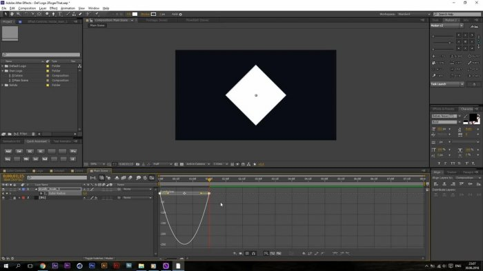 Создание шейповой анимации логотипа в After Effects