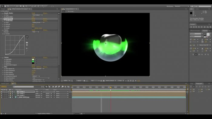������� �������� � Cinema 4D � After Effects