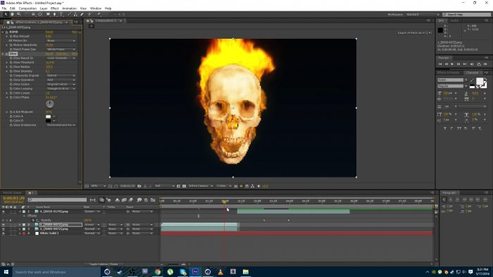 Огненный череп в Cinema 4D и After Effects