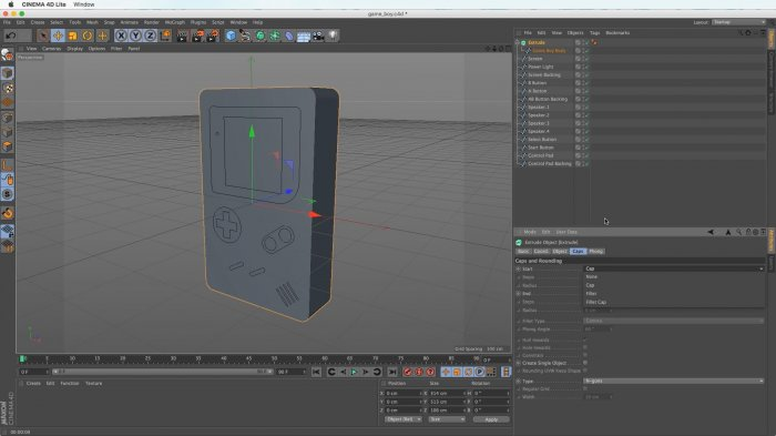 ���������� ������� Game Boy � Cinema 4D