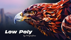������ ���� � ����� low poly � Illustrator