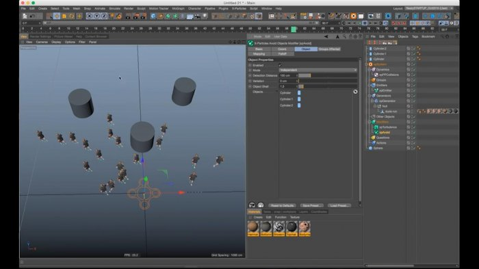Бегущая толпа с Cinema 4D & X-Particles