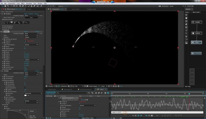 Эффекты частиц из заставки Disney. After Effects Stardust и Trapcode Particular