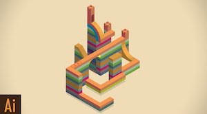 Дизайн уровня для Monument Valley в Illustrator