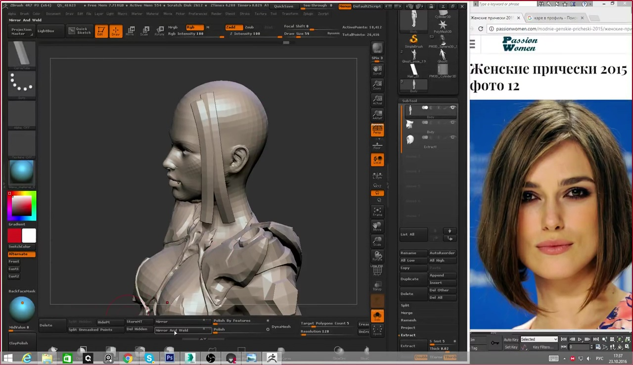 Did the retopo straight up in zbrush, unwrapped in blender (tried the uv master in zbrush, its