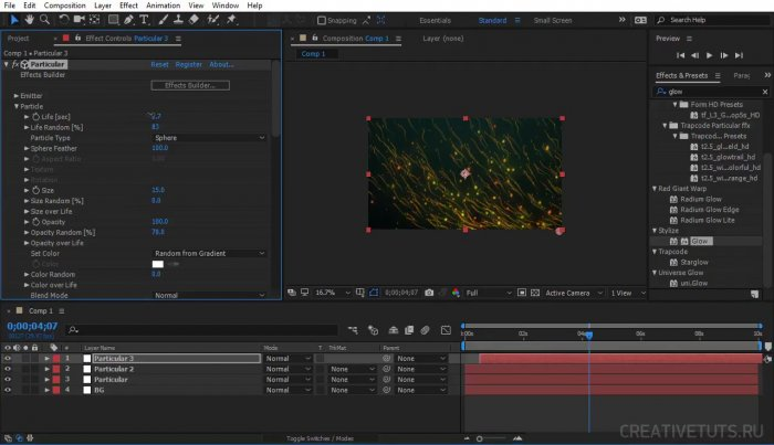 Частицы вируса с Trapcode Particular в After Effects