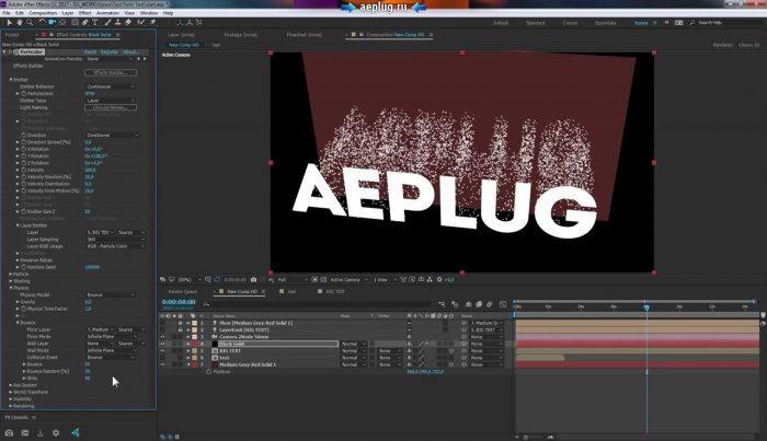 Текст из текста или текст из частиц в Adobe After Effects